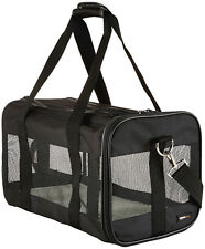 Trasportino Viaggio Animali Medio Nero con Tracolla per Trasporto Cane o Gatto