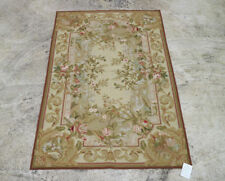 2.5' X 4' Beautiful Hand Woven 19th Century Aubusson Design Needlepoint Rug