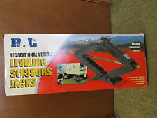 BAL 24002C RV Leveling Scissors Jacks - Set of 2 - 5th Wheel / Travel Trailer
