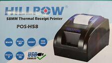 Hillpow Pos H58 Usb Thermal Receipt Printer New Open Box Ships Same Day