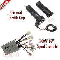 36V 800W Brushed Speed Controller + Throttle Grips For Scooter Electric Bike