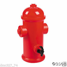 Fireman Fire Dept RED Fire HYDRANT Drink Dispenser Party Serveware Decoration