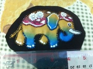 Elephant Color Screening Patch on Cloth for Craft, Patch, Decorate on Cloth, Bag