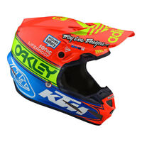 Troy Lee Designs TLD SE4 Team Edition 2 Composite Helmet Orange Blue MX Moto ATV