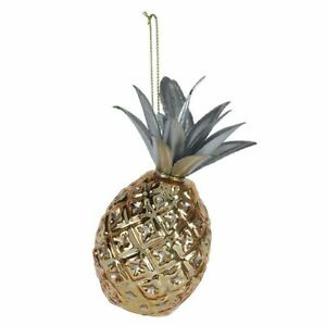 Christmas Tree Ornament - Glass Pineapple - Paperchase - (8414)