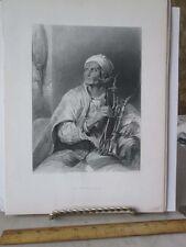 Vintage Print,HOOKA BADAR,David Wilkie,Clarence Cook,1888