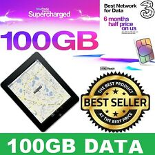 100GB Data (6 Months Internet) 3 Mobile High Speed Data for Mobiles Tab iPad PS4
