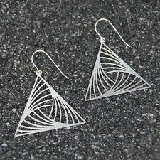 Triangle Earrings, triangle jewelry, triangle dangle earrings, Zelda