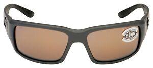 Costa Del Mar Fantail Gray Polarized Copper Silver Mirr 580G Rectang. Sunglasses