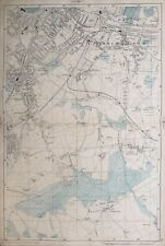 "1899 Antique Map; Norwood, Beckenham - Bacons Large Scale London Atlas. 4""=Mile"