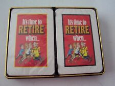 1988 DOUBLE DECK NOVELTY PLAYING CARDS - IT'S  TIME TO RETIRE WHEN - SEALED