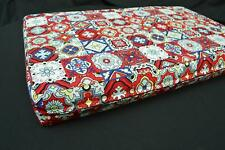 LF812t  Red Yellow Blue White Cotton Canvas 3D Seat Box Shape Cushion Cover