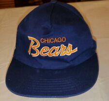 VTG 1980's Chicago Bears Script Snapback Hat NFL Cap Kemper Insurance