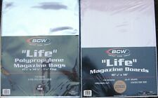(25) BCW LIFE MAGAZINE SIZE BAGS / COVERS & BACKING BOARDS AND FREE SHIPPING