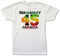 Bob Marley 45 Jamaica White T Shirt New Official Adult Reggae Rasta