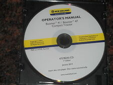New Holland Boomer 41 47 Compact Tractor Operation & Maintenance Book Manual