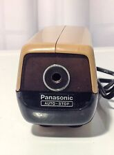 Vintage Panasonic Auto Stop KP-88A Electric Desktop Pencil Sharpener Japan Beige