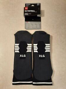 Under Armour Adult Football Crew Socks, 1-Pair , Black/White , X-Large
