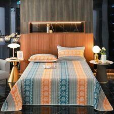 Bohemian Geometric Diamond Shape Bedspread Bright Vibrant Quilt Bed Sheet 3/5Pcs