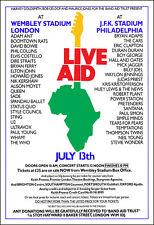 Live Aid Led Zeppelin Queen Who U2 Elton John Clapton Santana Concert Poster