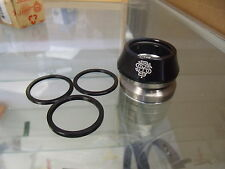 """ODYSSEY CONICAL INTEGRATED 1-1/8"""" BLACK BMX BICYCLE HEADSET"""