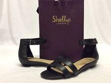 Shellys London OLAEDIA Women's Slingback Sandals, Black Size 7 Eur 37 UK 5