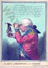 Satire Gillray 1803 The King Of Brobdingnag Gulliver Canvas Art Print