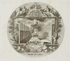 PROBST(*1721), Emblem, Wünsche aber mässiger, nach Ovid, um 1750, Kupferstich