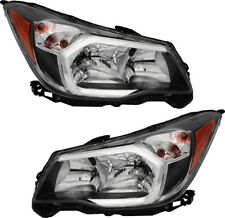 Halogen Headlights Assembly w/Bulb Pair Set for 14-16 Subaru Forester 2.0L Wagon