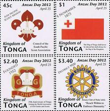 Tonga Anzac Day --- Scouting Stamp Singles Set