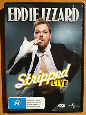 EDDIE IZZARD STRIPPED LIVE ~ AS NEW DVD ~ **FREE POST