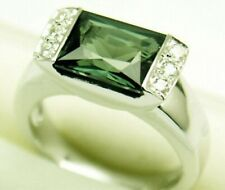 Lab Created Spinel Silver Ring, April #92 Sz 7