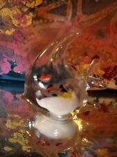 Heavy Antique Glass Fish Paperweight Figurine~