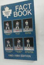 Vintage Hockey 1983-84 TORONTO MAPLE LEAFS Media Guide Rare NHL