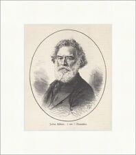 Julius Hübner, gest. am 7. November deutscher Maler Galerie Holzstich E 18771