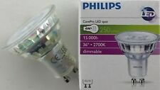 10 x PHILIPS 4W GU10 LED 2700K WARM WHITE DIMMABLE 250lm 36º 4 Watt = 35 Watt