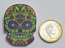 Day Of The Dead Skull Acrylic Badge - Pin Badges - Backpack - Brooch -UK Stock