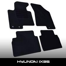 Fußmatten Hyundai ix35 (2009-2015) Schwarz Autoteppiche nadelfilz 4tlg