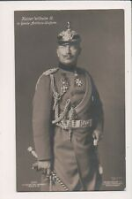 Vintage Postcard Kaiser Wilhelm II, German Emperor King of Prussia  WWI Military