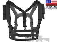 AIRSOFT Molle VEST Hangin CHEST RIG with SLING Tactical Training Military Combat