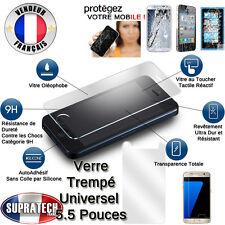Protection Ecran Verre Trempé Contre les Chocs Tous Smartphones Ecran 5.5 Pouces
