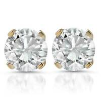 1ct Diamond Studs 14K Yellow Gold