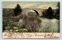 South Keene, NH - c1907 VIEW OF RAILROAD TRAIN BRIDGE - RPO POSTCARD - Z4
