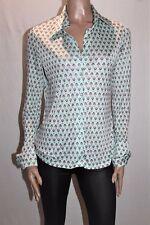 MODERN STYLE Designer Retro Geo Print Long Sleeve Shirt Top Size L #SJ20
