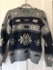Vintage Retro Woolrich Crewneck Sweater, 100% Wool, Blue, Size Medium, ECU