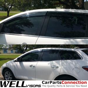 WellVisors Window Visors 07-12 Mazda CX-7 Side Deflectors  Deflectors