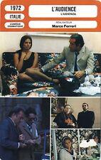 Movie Card. Fiche Cinéma. L'audience / l'udienza (Italie) Marco ferreri 1972