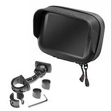 "Motorcycle mount & waterproof bag with hood for 5"" GPS Navi TomTom Garmin etc."