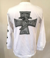 Loser Machine Dark Seas Men's Long Sleeve T-Shirt Surfer's Cross White LRG NEW