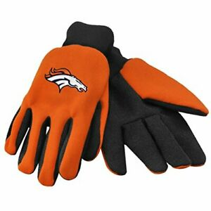 FOCO NFL Denver Broncos Embroidered Utility Gloves Pair One Size Fits Most